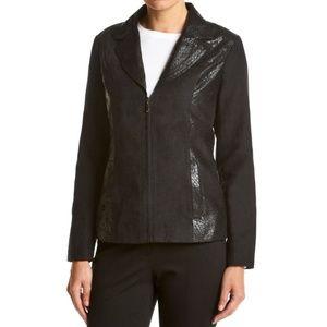 Gray Studio Works® Embossed Lapel Jacket